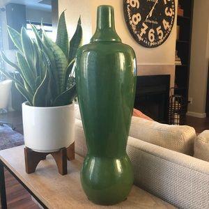 Other - Tall Green Designer Crackle Glazed Vase